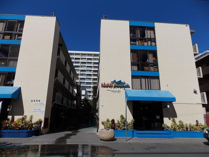 ハワイ1写真5Waikiki Beachside Hostel.JPG