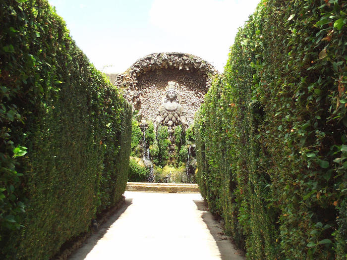 Photo by Avinash Kunnath[Through the hedges, the Grotto of Diana](CC-BY).jpg