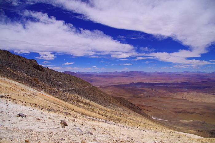 世界一標高の高い道。ボリビア『...